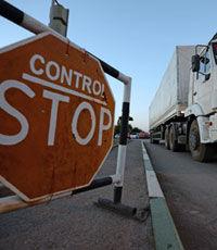 На украинской границе задержали 40 машин с грузами для Приднестровья
