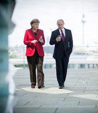 Меркель: необходимо устранить разногласия с Россией по Украине