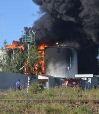 На нефтебазе под Киевом вновь загорелся один резервуар