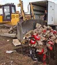 Россия уничтожила первую партию привезенных из Украины продуктов