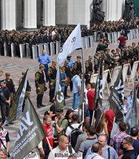 При взрыве у парламента Украины ранены более 10 силовиков