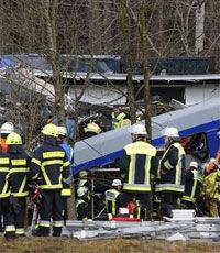 При столкновении поездов в Баварии погибли девять человек