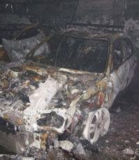 В Киеве в подземном паркинге горели автомобили