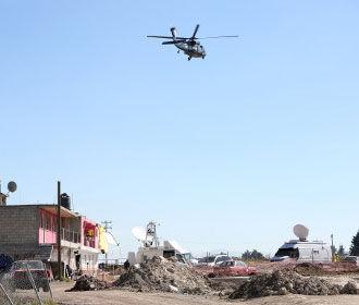 Мексиканская банда сбила полицейский вертолет