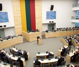 Сейм Литвы не признал президентские выборы в Беларуси