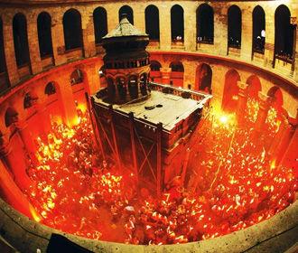 Церемония схождения благодатного огня будет происходить без паломников