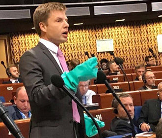 Украинскому депутату на заседании ПАСЕ сделали замечание за вызывающее поведение