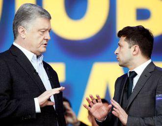 """Экзит-пол, обнародованный на """"112.Украина"""": Зеленский - 73,7%, Порошенко - 26,3%"""