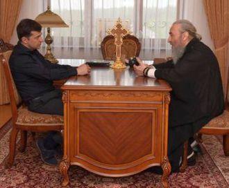 Зеленский встретился с митрополитом Онуфрием