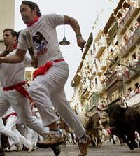 Во время забега быков в Испании пострадали 14 человек