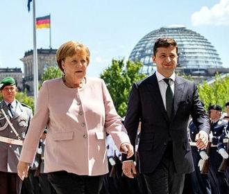Зеленский в Берлине встретился с Меркель