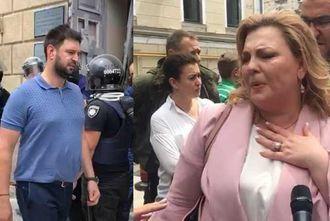 Ставленница Порошенко Владлена Дубинина устроила спектакль под Офисом Президента