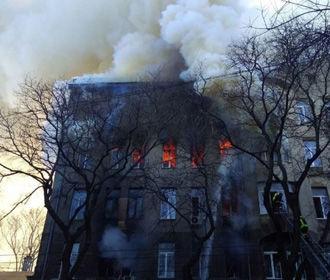 Полиция назвала причину пожара в одесском колледже