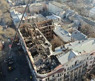 В Одессе опознали тела всех погибших при пожаре в колледже
