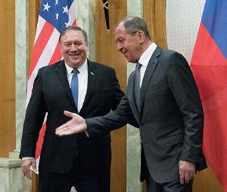Украина стала основной темой переговоров Помпео с Лавровым