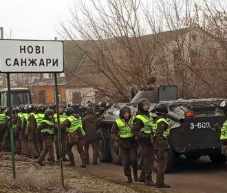 Автоколонна с эвакуированными из Уханя въехала на территорию санатория в Новых Санжарах