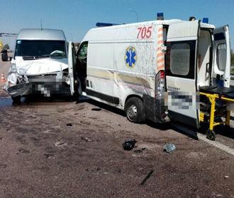Под Борисполем пьяный водитель скорой устроил ДТП