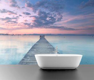 Фотообои в ванную комнату - как альтернатива кафелю