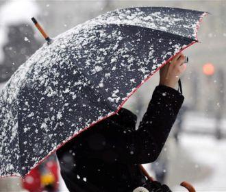 Теплый воздух с Европы несет в Украину мокрый снег и дождь