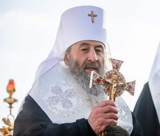 Предстоятель УПЦ митрополит Онуфрий освятил воды Днепра на Оболони