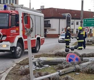 В Венгрии пьяный украинец на грузовике за минуту совершил три ДТП