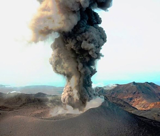 Вулкан на Курилах